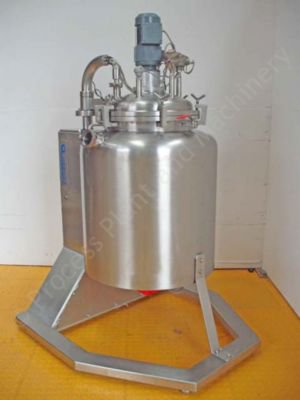 ~60ltr Stainless Steel Process Vessel with mixer