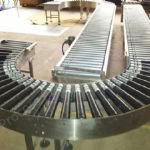 Gravity Roller Conveyor with Bend