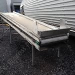 Inclined Stainless Steel Chain Belt Conveyor