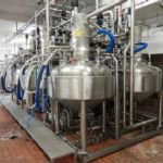 ~500kg Skid Mounted Full Vacuum Fruit Mixing System