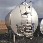 ~22,700 Ltr (5,000 gal) Stainless Steel Jacketed & Insulated & Clad Horizontal Tank