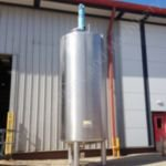 ~10,000 Ltr Stainless Steel Jacketed Tank with Top-Mounted Multi Paddle Mixer