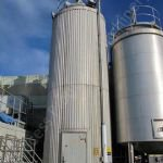 ~40,000 Ltr 316 Grade Stainless Steel Insulated & Clad Silo