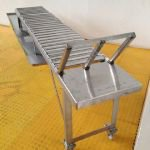 Stainless Steel Gravity Roller Conveyor with Draining Table