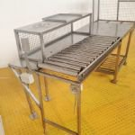 Stainless Steel Gravity Roller Conveyor with Worktop Table