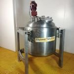 ~350 Ltr Stainless Steel Jacketed & Insulated Tank with Top-Mounted Mixer