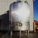 ~28,000 Ltr Stainless Steel Insulated & Clad Tank with Top-Mounted Mixer