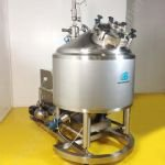 ~400 Ltr Scanima1R2-400V Vacuum Process Vessel with Bottom Entry High Shear Mixer