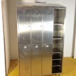 Stainless Steel 2-Tier Nest of 3 Storage Locker