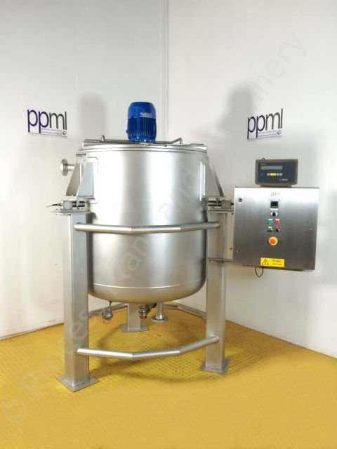 Used 1,000 Ltr Jacketed Tank with Silverson High Shear Mixer