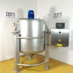 ~1,000 Ltr Jacketed Tank with Top-Mounted Silverson High Shear Batch Mixer