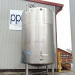 ~25,000 Ltr Stainless Steel Jacketed Cream Tank with Top-Mounted Mixer