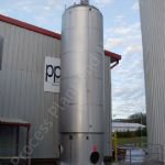 ~37,500 Ltr Jacketed Aseptic Tank with Top-Mounted Paddle Mixer