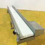 ~3.3m Long Stainless Steel Belt Driven Conveyor