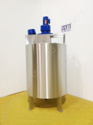 ~1,000 Ltr Jacketed Tank with Top-Mounted High Shear & Scraped Surface Mixer
