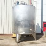 ~14,000 Ltr Stainless Steel Insulated Tank with Paddle Mixer & Internal Heating Coil