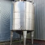 ~10,000 Ltr Stainless Steel Insulated Tank with Full-Sweep Gate-Type Mixer