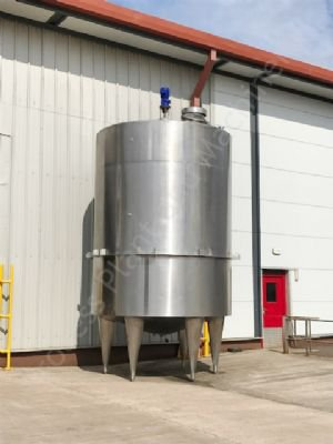 20,000 Ltr Stainless Steel Insulated Tank with Top-Mounted Paddle Mixer