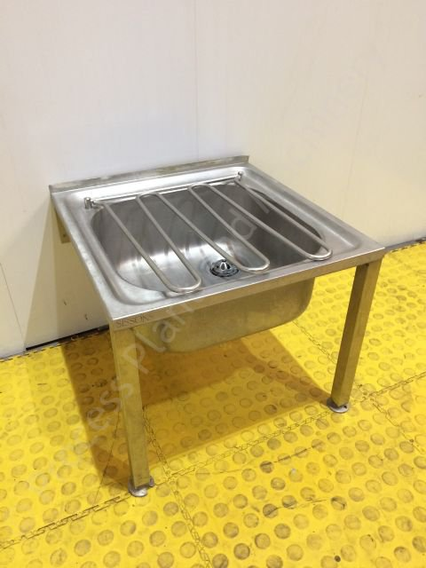 Used stainless steel floor stand single bucket sink ppm ltd for Metal bucket sink