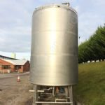 13,000 Ltr Stainless Steel Insulated Tank with Top-Mounted Paddle Mixer