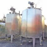 6,000 Ltr Stainless Steel Jacketed Tank with Top-Mounted Multi-Paddle Mixer