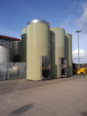 40,000 Ltr 316 Grade Stainless Steel Insulated & Clad Liquid Storage Silo