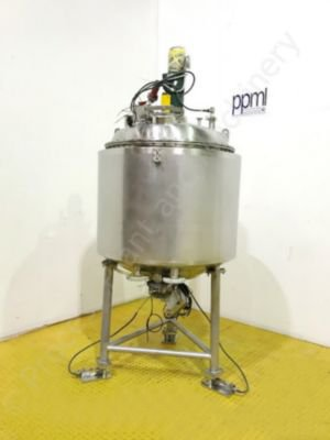 285 Ltr 316 Grade Stainless Steel Jacketed Tank with Lightnin Mixer