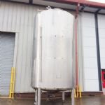 22,500 Ltr Stainless Steel Jacketed Cream Tank with Top-Paddle Mixer