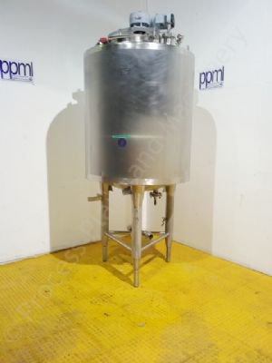 1,500 Ltr Pasilac Stainless Steel Jacketed Cream Tank with Full-Sweep Mixer