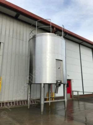 15,000 Ltr Stainless Steel Insulated Tank with Top-Mounted Multi-Paddle Mixer
