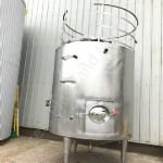 10,000 Ltr Stainless Steel Jacketed Tank with Top-Paddle Mixer