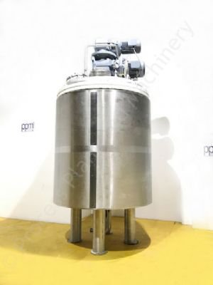 4,500 Ltr Stainless Steel Jacketed Tank with Scraped Surface & Contra-Rotating Mixer