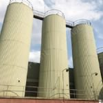 150,000 Ltr Stainless Steel Insulated & Clad Liquid Storage Silo