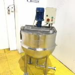 227 Ltr (50 Gal) Stainless Steel Jacketed Giusti Tank with Top-Mounted Y-Tron Mixer