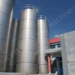 50,000 Ltr Stainless Steel Jacketed Insulated & Clad Liquid Storage Silo
