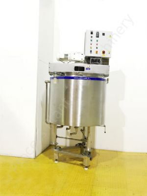 750 Ltr 316 Grade Stainless Steel Jacketed Tank with Scraped Surface Mixer