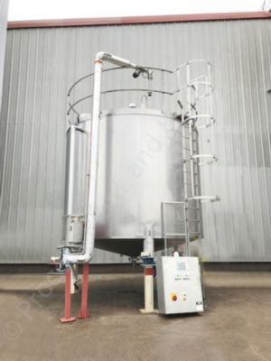 27,500 Ltr Stainless Steel Jacketed Chocolate Tank with Gate-Type Mixer