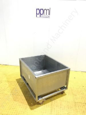Stainless Steel Mobile Utility Bin