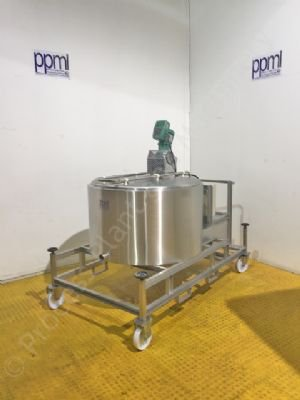 430 Ltr Stainless Steel Jacketed Mobile Tank with Mixer & Chiller