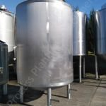 5,000 Ltr Stainless Steel Insulated Tank with Full-Sweep Gate-Type Mixer