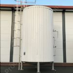 45,000 Ltr (10,000 gal) Stainless Steel Jacketed Insulated & Clad Storage Silo