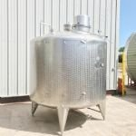5,000 Ltr Stainless Steel Jacketed Tank with Top-Mounted Paddle Mixer