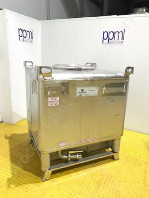 1,000 Ltr Stainless Steel Rectangular IBC Container