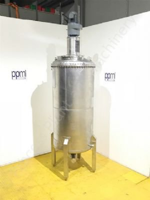 1,500 Ltr GEA Stainless Steel Jacketed Tank with Scraped Surface Mixer