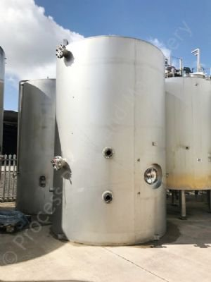 15,000 Ltr 316 Grade Stainless Steel Insulated & Clad Holding Tank