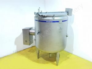 2,500 Ltr BCH Jacketed Tank with Side-Entry Scraped-Surface Over-Mix