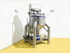 1,200 Ltr Limitech Tank with Top-Mounted Full-Sweep Scraped Surface Mixer