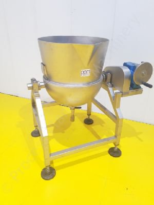 80 Ltr Stainless Steel Steam Jacketed Tipping Tank