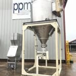3,500 Ltr Stainless Steel Hopper with Bag Tipping Station, Rotary Valve & Dust Extraction