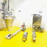 1,200 Ltr Powder Hopper Blending Plant with Screw Feed Conveyor & Liquiverter